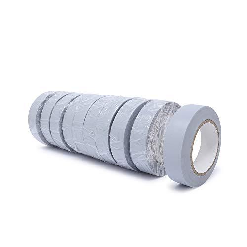 gws PVC-Elektro Isolierband   Universell einsetzbares professionelles Klebeband   Für den Innen- und Außenbereich   Weich-PVC und Naturkautschukkleber RESTPOSTEN (10, grau   10 m x 15 mm)