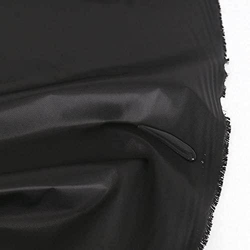 TOLKO Wasserdichter Outdoor Stoff   Robust, Farbecht und UV-beständig   für Regenjacke Plane Regenschutz   Baumwollmischstoff als Meterware 150cm breit (Tief Schwarz)