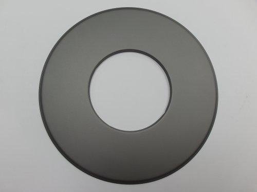 Große Wandrosette DN 150 Ofenrohr grau