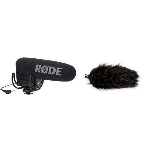 Rode VMPRY VideoMic Pro Rycote, Kamera-Richtmikrofon mit Lyre, Batteriespeisung + Rode DeadCat VMP Fellwindschutz Bundle
