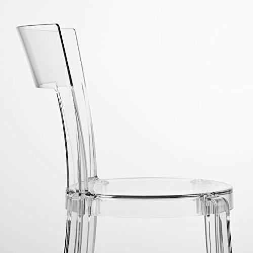 Tok Mark Traders Stein - Silla transparente, 47 x 54 x 82 cm, resistente y fácil de cuidar, sillas de comedor, sillas, muebles, respetuoso con el medio ambiente