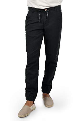 Blend Lennik Herren Leinenhose Lange Stoffhose, Größe:L, Farbe:Black (70155)