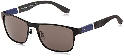 Tommy Hilfiger TH 1283/S Sunglasses, Blanco Azul, 55mm Unisex-Adulto