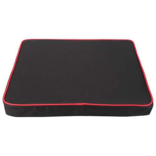 Asiento de espuma viscoelástica - Cojín de espuma viscoelástica para asiento Silla de oficina Sillas de ruedas Cojín de soporte para sofá(Negro)