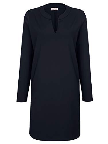Alba Moda Damen Figurumspielendes Knielang Kleid Langarm in Marineblau