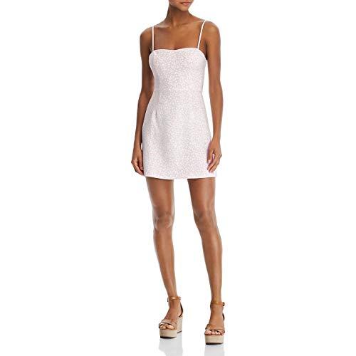 French Connection Women's Whisper Light Dress, Baylee Lavender Frost/Summer White, 4