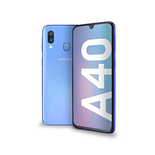 Samsung Galaxy A40 Display 5.9', 64 GB Espandibili, RAM 4 GB, Batteria 3100 mAh, 4G, Dual SIM Smartphone, Android 9 Pie, (2019) [Versione Italiana], Blue