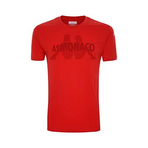 Kappa AVLEI AS Mónaco Camiseta Hombre Rojo