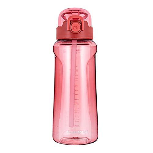 Water Bottles Botella Ciclismo Botella Deportiva For Botella Deportiva para Fitness, Gimnasio, Bicicleta, Gimnasio, Al Aire Libre, NiñOs, Escuela Red,1100ml