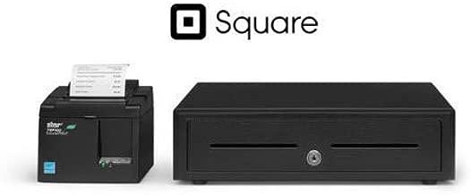 Star Micronics Square and SHOPIFY POS Hardware Bundle TSP143IIILAN 39464910 ETHERNET (LAN) Printer and Cash Drawer
