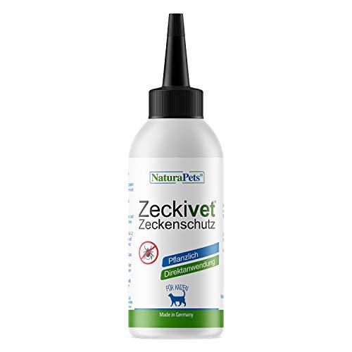 NaturaPets® Zeckivet - Pflanzlicher Zeckenschutz ohne Chemie für Hunde & Katzen (Ungezieferschutz) Spot-on Lösung zur Anwendung am Tier gegen Zecken, Milben, Flöhe (Katze, 1 x 40ml)