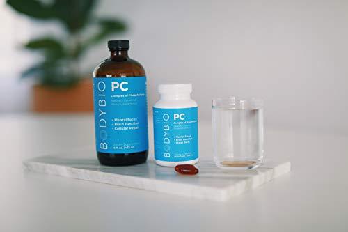 BodyBio - PC Phosphatidylcholine + Phospholipids - Liposomal for High Absorption - Optimal Brain & Cell Health - Boost Memory, Cognition, Focus & Clarity - 100% Non-GMO - 8 oz 3