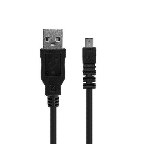 Cable USB Comp. Para Nikon D5500 D5300 D5200 D5100 D3200 D3300 D750 D7200 D7100 Nikon CoolPix S3300 B500 P510 P520 P500 Cable de datos equivalente a cable Nikon UC-E6, UC-E16, UC-E17, Weiss More Power