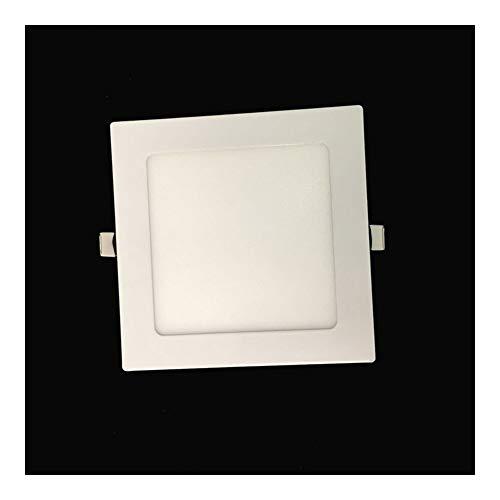 La Luz Del Panel Ultra Thin 3W 6W 9W 12W 15W 18W 24W LED Downlight Cuadrado LED 4000K Dormitorio Luminaria De Techo Empotrada Lámpara LED (Emitting Color : Cold White)
