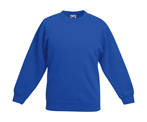 Fruit of the Loom, Kinder-Sweatshirt Gr. 5 nach 6 Jahre, königsblau