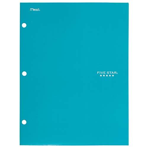Five Star 4 Pocket Folder, 2 Pocket Folder Plus 2 Additional Pockets, Teal (72087)