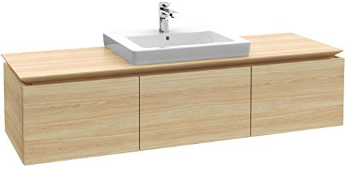 Villeroy & Boch Legato Waschtischunterschrank B25100, 1400x380x500mm, Waschtisch mittig, Farbe: White Wood