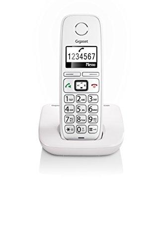 Gigaset E260 Telefono Corldess, Tasti Grandi, Numeri sul Display Grandi, Tastiera Illuminata, Suonerie e Audio Potenziato, Bianco [Italia]