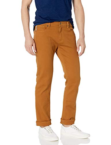 Southpole Men's Flex Stretch Basic Twill and Rinse Denim Pants, Caramel, 34x32