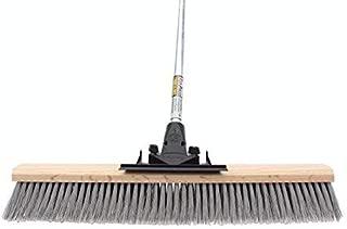 FlexSweep Flex-Power Unbreakable Commercial Push Broom (Contractors 24 Inch) Medium Bristles Multi Surface