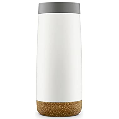 Ello Cole Vacuum-Insulated Stainless Steel Travel Mug, Grey, 16 oz