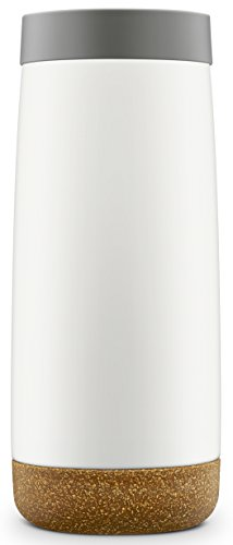 Ello Cole Vacuum-Insulated Stainless Steel Travel Mug, Grey, 18 oz