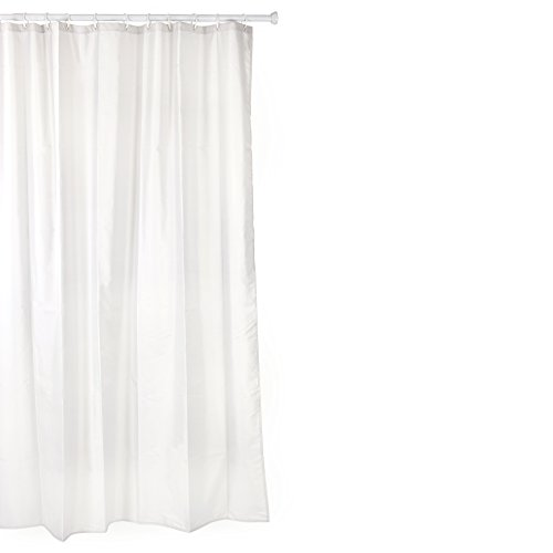 Tatay 5520001 Cortina de baño de Polyester, Incluye Anillas, Blanco, 140 x 200 cm