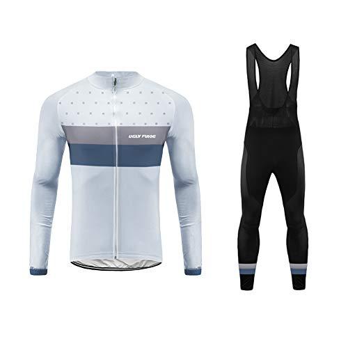 Uglyfrog MTB Invierno Hombres Jersey Pantalones Largos Mangas Largas de Ciclismo Ropa Maillot para Deportes al Aire Libre Ciclo Bicicleta(Chaqueta or Suit)