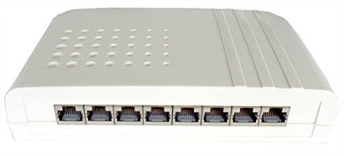 Setec 506131A Smartbox LSA 8-Port Cat6A, geschirmt, Weiss