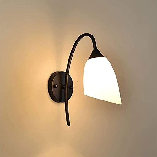 Minimalista de la pared de la granja del siglo de mediados, minimalista nórdico moderno E27 / E26 Lámpara de pared negra, soporte de hierro industrial retro Luces de pasillo Lámpara de corredor