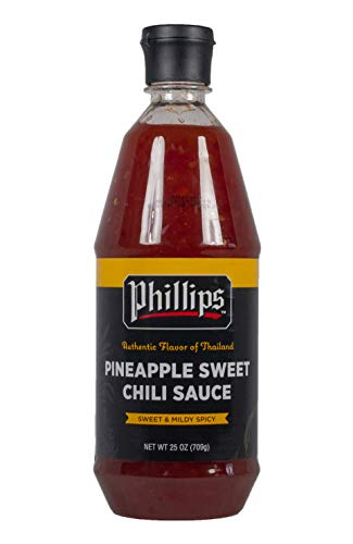 Pineapple Sweet Chili Sauce in a 25 oz. squeeze bottle used in Phillips Seafood Restaurants worldwide