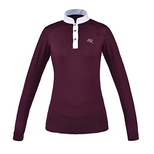 Kingsland Langarm Turniershirt Miranda, Show Shirt mit Glitzersteinchen Farbe Blue, Größe L