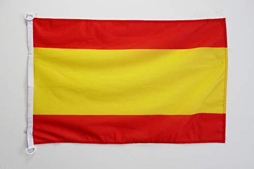 AZ FLAG Bandera de ESPAÑA SIN Armas 150x90cm Uso Exterior - Bandera ESPAÑOLA SIN Escudo 90 x 150 cm Anillos