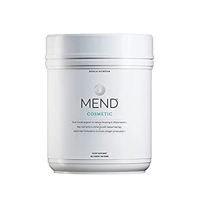 MEND Cosmetic - Skin Healing Supplement Powder with Arnica, Whey Protein, Collagen, and Bromelain - Vanilla, 20 Servings