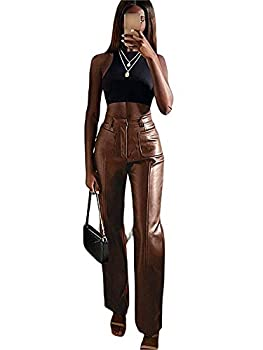 Best brown leather pants women Reviews