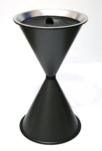 Standaschenbecher Diabola 71x40 cm inkl. 25 kg Quarzsand, graphit, Marke: Szagato, Made in Germany (Kegel Ascher Standaschenbecher Aschenbecher Standascher Sanduhr)