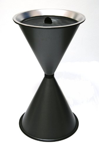 Standaschenbecher Diabola 71x40 cm, graphit, Marke: Szagato, Made in Germany (Kegel Ascher Standaschenbecher Aschenbecher Standascher Sanduhr)