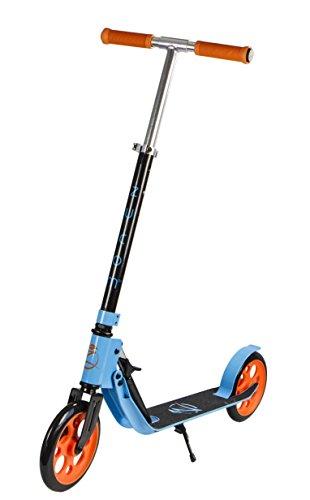 Madd Gear Zycom Easy Ride Trottinette hydraulique Pliable, Enfant, 204-158, Bleu/Orange, Age 12+