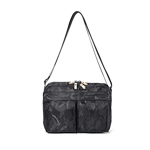 QIANJINGCQ New men's solid color shoulder bag casual retro portable small bag outdoor student messenger bag