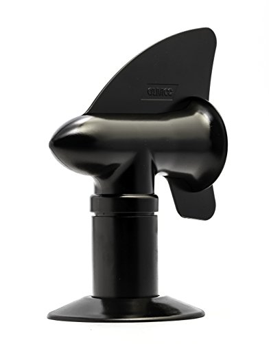 Camco Cyclone Rotating Sewer Plumbing Vent - Rids Odors from Your RV Holding Tank, Rotes 360 Degrees to Pull Odors Up and Away - Black (40597)