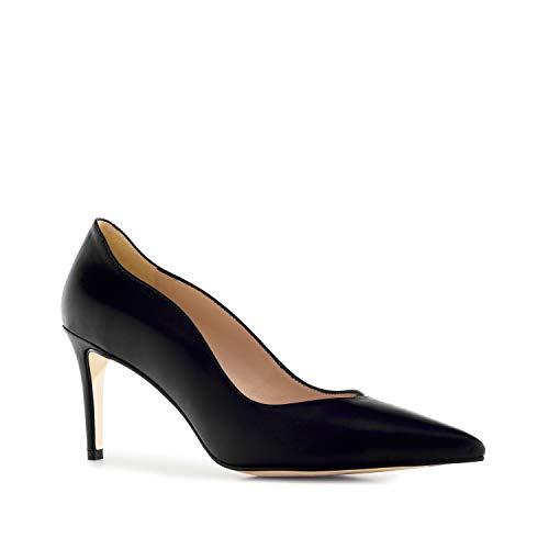 Andres Machado - Elegante Pumps für Damen/Mädchen - CLOE – Hohe Schuhe mit Absatz/High Heels aus Leder – Made IN Spain - in Schwarz, EU 45