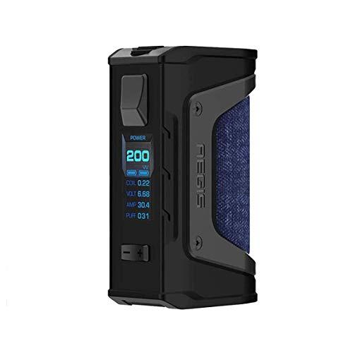 GeekVape Aegis Legend 200W TC MOD Cigarrillo electrónico Box Big Power Box con prueba de agua, resistente a golpes y polvo, vapor Vape de gran potencia sin líquido, sin nicotina (jeans)