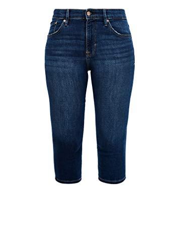 s.Oliver Hose Kurz Pantalocini, 58z4 Blue Denim Stretch, 42 Donna