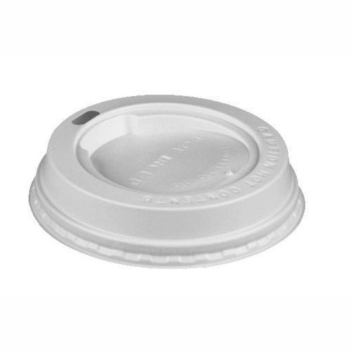 """PAPSTAR Deckel f. Hartpapierbecher / Kaffeebecherdeckel """"TO GO""""  (100 Stück) rund Ø 8 cm, weiß, Polystyrol, passend zu Becher """"To Go"""", zum Warmhalten von Heißgetränken, mit Trinköffnung, #14809"""