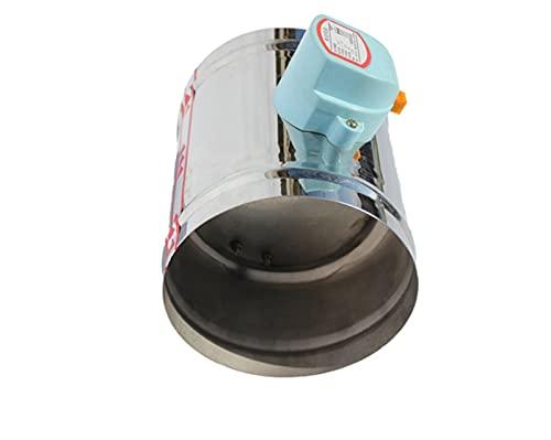 JIAN Válvula de Revestimiento motorizada de la válvula de Aire eléctrica del Amortiguador de Acero Inoxidable 201 Ajuste para 3/4/5/6 / 8 Pulgadas 80/100/125/150/200 / 250mm 220V 12V 24V Exquisite
