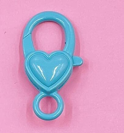 SHUNXI 10 unids/Lote Metal 14x27mm Fuerte Colorido Pintado Amor corazón Broche de Langosta Conector de Ganchos para Llavero DIYManualidades de fabricación deJoyas