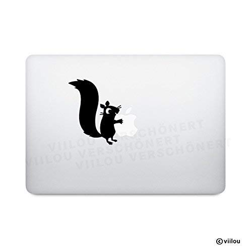 Sticker Mac Aufkleber EICHHÖRNCHEN macbook Aufkleber Apple Logo Tattoos Computer