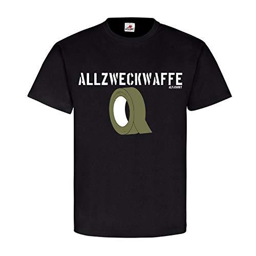 Allzweckwaffe Panzertape Werkzeug Original Klebeband Tape BW Bund T Shirt #18455, Größe:4XL, Farbe:Schwarz