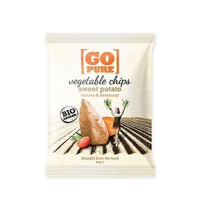Go Pure Chips Süßkartoffel & Rosmarin - 40g