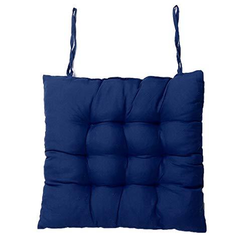 Robuust kussen, lang, mat, om te kantelen, rocking, rotan, inklapbaar, Thick Garden Sun Lounge Seat Kushion Sofa Tattoo mat. 40x40cm Blauw